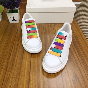 2020 Luxury platform Fashion Designer Men and women Beautiful Platform Casual Sneakers Luxury Designers Shoes Leather Solid Colors Dress Sh
