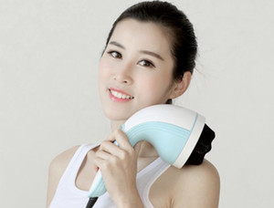 Hand-held vibration multifunctional full body kneading electric portable massager