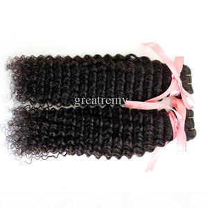 "7A Retail 1pc DHgate Malaysian Human Hair Weave Double Weft Extensions 8 ""~30"" глубокая волна необработанные девственные волосы естественный цвет Dyea"