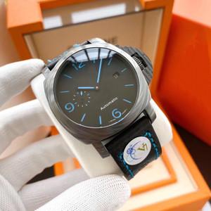Супер часы 001 V7 Montre DE LUXE 44мм оболочки и Carbotech углеродного волокна композитного материала дизайнерские часы