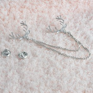 Deer Head catena spilla nappa spilla collare della camicia pin gioielli di moda per le donne gli uomini Will e Sandy Spilla