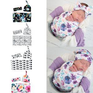 Bebé recién nacido de empañar Manta + arco de la venda + hat 3pcs / set sacos de dormir Wrap INS del niño dinosaurio Sacos de Sueño tiburón apoyo de la fotografía M1847