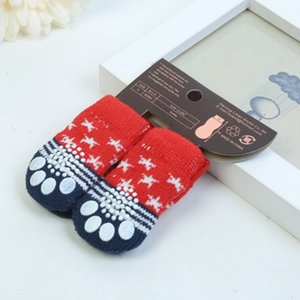 Fashion Cartoon Cute Pet Socks Soft Comfortable Cotton Knits Shoes Anti-slip for Dogs Thick Warm Boot S  M  L Dog Apparel
