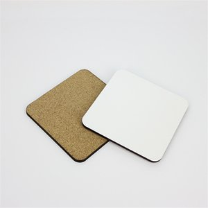 10*10cm Sublimation Coaster Wooden Blank Table Mats MDF Heat Insulation Thermal Transfer Cup Pads for DIY Lover A03