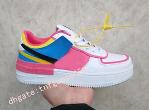 Yeni Tasarımcı Zorla WMNS 07 Fayda Şeker Macaron Kadınlar Kızlar Koşu Ayakkabı 1 Gölge Spor Dunnk bir kaykay CI0919-101 Sacai Sneakers