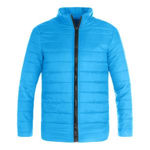 Mens теплое пальто для зимы и осени Slim Fit зима Puffer Zipper Jacket Открытый Туризм Виды спорта Cotton тренчи