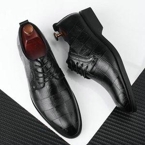 Black Brown Low Top Men Formal Office Shoes Men Dress Shoes BIG   Plus Size 38-47 Men Business Wedding Flat Oxford Shoes LK-45