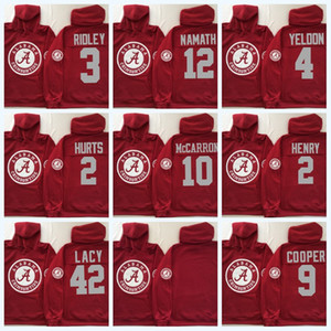2 Jalen Hurts Alabama Crimson Tide Hoodie 2 Derrick Henry 3 Ridley 9 Bo Scarbrough 4 T.J. Yeldon NCAA College Football Jersey