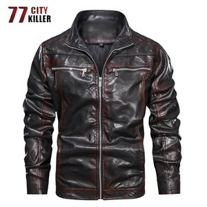 New Motorcycle Leather Jacket Men Spring Autumn Faux Leather Jackets Male Casual Luxury Coat Normal Euro Size S-3XL Dropshipping