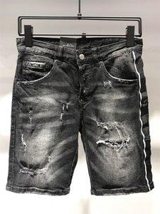 DSQUARED2 DSQ2 Роман TEEZ SS20 высокое качество D2 бренд дизайнер мужчины джинсовые короткие джинсы вышивка брюки мода отверстия брюки Италия размер 44-54 9185-1
