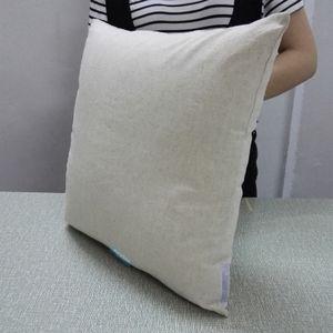 30 pcs TODOS OS TAMANHOS Linho-Algodão Cinza Natural Misturado Fronha Em Branco Travesseiro De Linho Em Cinza Capa de Almofada de Linho Natural Fina Para DIY HTV