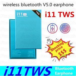 i11TWS drahtloser Kopfhörer Bluetooth 5.0 Earbuds Stereo-Touch Hörmuscheln Pop Up Windows-Headset mit Ladebox Günstigste Kopfhörer 100PCS