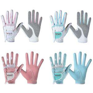 Gants de golf de Golf Femmes Anti-dérapante Gauche et Droite Granules main en tissu doux et respirant Microfibre Gants de sport