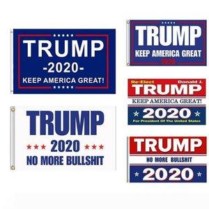 A Trump 2020 Bandeira Dupla Face Impresso Donald Trump Bandeira Mantenha América Grande Donald para o presidente EUA DropShipping 150x90cm