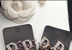 Neue Designer hochwertige Strasssteine Englisch Alphabet Ohrringe Damen Marke Schmuck Ohrringe Geschenk Liebe schnelle Lieferung