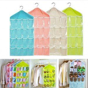 Organizers 16 Pockets Hanging Bag Creative Wardrobe Organizer Home Storage Hanging Organizer For Socks Bra Underwear Kids Toys Storage