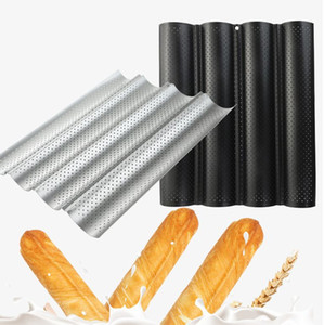 Антипригарного Хлеб Паной Mold волна буханка выпечка прессформы DIY Wave Baker Tray Wave Багет пригорание инструмент KKA7913