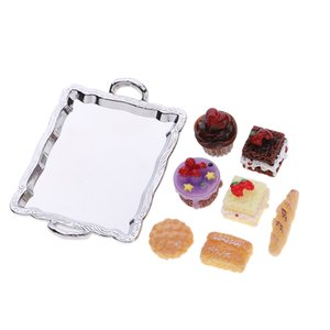 1 12 Dollhouse Miniature Food Cake Plate Cakes Set For Kitchen