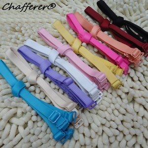 Solid 1.5cm Candy-colored Static Buckle Bra Straps Double Shoulder Straps Fresh Shiny Underwear 5pairs lot t