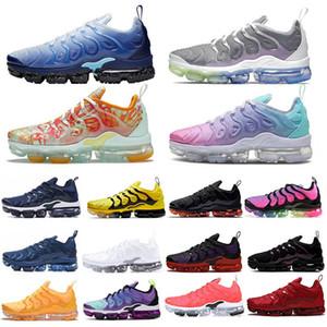 Nike Max TN Erkekler Kadınlar siyah kahverengi Izgara Baskılı Noble Kırmızı gerçek olamayacak Bumblebee Buz Mavi Dip Boya Nane Turuncu spor Sneakers Ayakkabı yetiştirilen Koşu