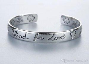 Classic Luxury Designer G Style Women Bracelet Blind For Love 925 Sterling Silver Bracelt Flower Heart Bangle Bracciali Couple Jewelry Gift