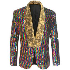 colorido Jacket lantejoulas de Homens PYJTRL