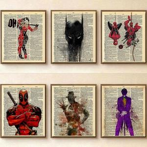Retro Prensa Popular arte de la pared de pósteres y láminas pintura decorativa cuadro de la lona para la pintura de la sala Decoración Aceite