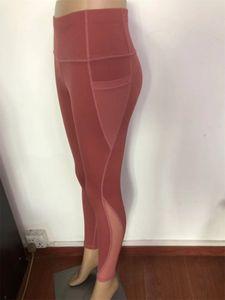 Yoga Sexy Tight Leggings Pantalons Mesh Patchwork Lift Butts Bulifting rapidement séchage Gym Fitness exericse Pantalons Vêtements pour femmes de E19