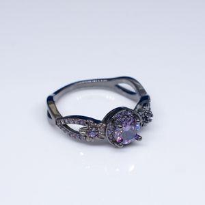 18K Gold Diamant-Ring für Frauen Lila schwarzer Obsidian Anillos Rubin Topas Bizuteria Agate Diamante Peridot Ring 925 edlen Schmuck