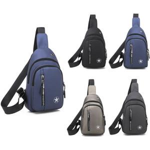 Casual New Men's Shoulder Bag Sling Chest Pack Nylon USB Charging Sports Crossbody Waist Packs 2020 Male Travel Chest Bags
