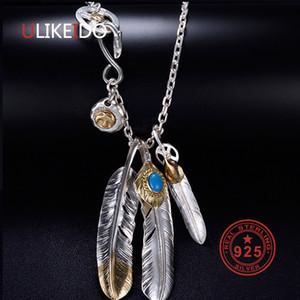 Твердые 925 Серебряное ожерелье Sterling для мужчин Vintage Подвески Takahashi Goros Подвеска Eagle Feather Сеть Новые Популярные P1022 ювелирные изделия