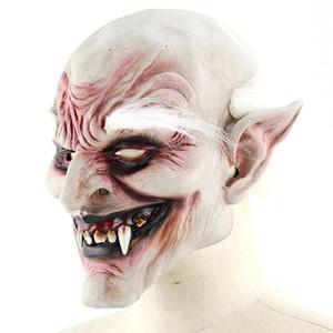 Neue Erwachsenen Kostüm Horn Maske weißbrauner alter Dämon Halloween Horror Teufel Maske Vampire Haunted House Evil Killer
