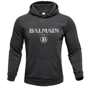 Balmain Herren Bekleidung Homme Hoodys Männer Frauen Entwerferhoodies-High Street Supremo Druck Hoodies Pullover Winter Sweatshirts