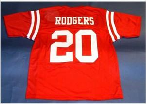 Hommes Nebraska CORNHUSKERS # 20 JOHNNY RODGERS personnalisé Collège Jersey Taille S-4XL ou personnalisé tout nom ou numéro jersey