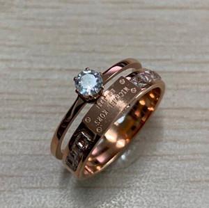 Nuovo progettista superiore di marca di stile di moda lettera M anelli in acciaio inox di amore squilla i monili Famosa per le donne regali di prezzi all'ingrosso