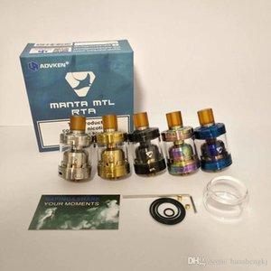 Os mais recentes MANTA MTL RTA Clone substituível Tanque Atomizers Single Coil vaporizador 2 ml / 3 ml com 510 Drip Tip Fit MODS alta qualidade Hot Sale DHL