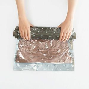 3 tailles Sacs à main roulante de compression de stockage pour vêtements en plastique vide Emballage Sacks Espace Voyage Saver Sacs pour 10pcs / lot de bagages