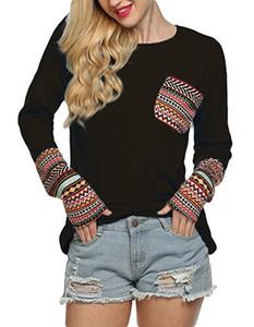Frauen Sweashirts Pullover Designer Casual Knit T-shirt Herbst Rundhalsausschnitt Lose Langarm Stretchy T Shirts Handschuhe Tasche Paisley Druck Tops