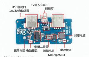 1 шт Dual Micro USB 3.7v до 5V 2A Mobile Power Bank DIY совет 18650 лития зарядного устройства PCB подталкивания Step Up модуль со светодиодным