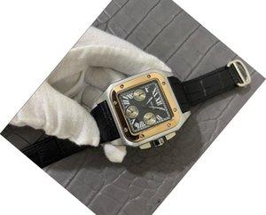 Katı 316 paslanmaz çelik otomatik Üst Kalite Lüks Kuvars izle GÜN TARİH tam fonksiyonel izle deri çerçeve kelebek saatı mens