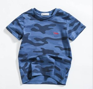 Best selling brand children's wear 2020 summer men's camouflage short sleeve European and American children's fashion camouflage T-shirt for