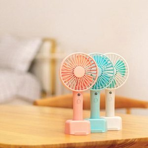 Desktop Mini Fan Rechargeable USB Handheld Summer Outdoor Portable Phone Stand Fan for Home Office OOA8010
