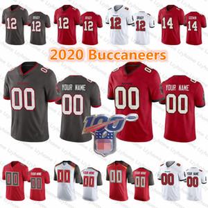 2020 Yeni Özel # 12 Tom Brady Erkek Kadın Gençlik Tampa BayBuccaneers Mike Evans 58 Shaquil Barrett 14 Chris Godwin Lavonte David Formalar