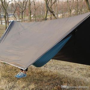 Spedizione gratuita Outdoor portatile multiuso Canopy Hammock impermeabile tendalino parasole Ombra Tenda Hammock Canopy