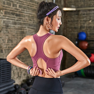 diqueqi спортивные бюстгальтеры для фитнеса йога бег ударопрочный push up сетка йога тренажерный зал плюс размер высокое качество T200411