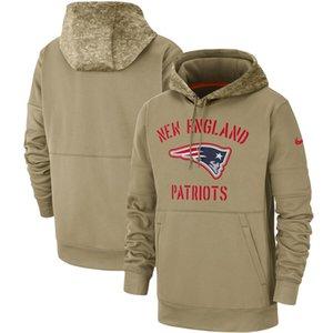 fútbol americano New England Patriot camiseta de 2019 Saludo a la línea lateral de Servicio Therma Sudadera con capucha Tan