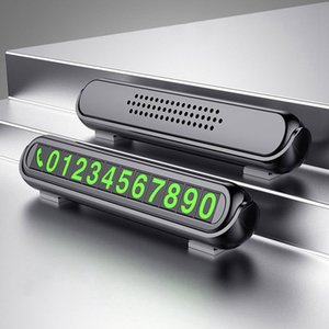 Hidden Luminous Car Phone Number Plate Car Sticker for C5 C4 C3 Berlingo Mitsubishi Lancer 9 10 Alfa