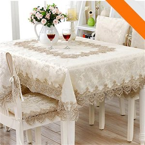 European Jacquard Table Cloth Classical Rectangle Tablecloths For Events Chair Covers Lace Table Microwave Oven Cover Nappe Noel T200707