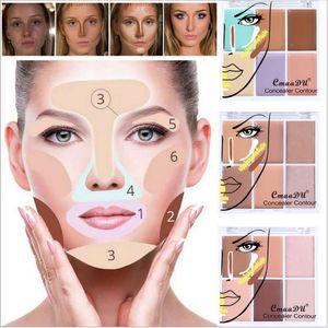 New Makeup Concealer Contour 6Color Cream and Powder Concealer Palette Dark Circles Perfect Cover Concealer 9g
