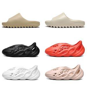 Top Quality Kanye foam runner sandals shoes triple black white slide slippers Trainers orange bone resin desert sand designer shoes Sneakers